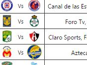 Programación Jornada Futbol Mexicano apertura 2015