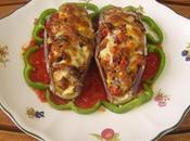 Berenjenas rellenas salsa