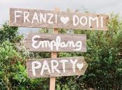 Romántica boda granja