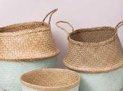 IDEAS para decorar cesta natural estilo nórdico!