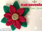 Flor navideña crochet
