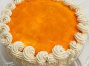 Tarta calabaza cuajada naranja