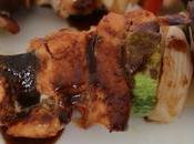 Brochette pollo salsa agridulce
