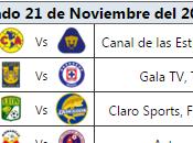 Programacion television jornada futbol mexicano