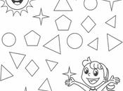 Pinta triángulos: Razonamiento matemático años