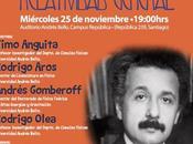 """Mesa redonda """"Una cuestión gravedad"""" UNAB, Santiago"""