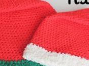 Gorro Papá Noel crochet