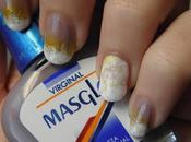Nails estampación bicolor doble degradado