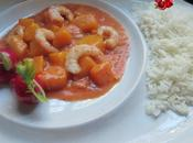 Curry gambas mango