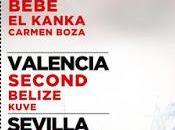 Bebe, Rozalén Second, conciertos voluntariado Madrid, Valencia Sevilla
