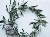 Corona navideña ramas olivo