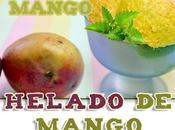 Helado mango.