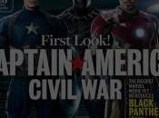 Captain America: Civil War. Capi, Iron Pantera Negra portada Entertainment Weekly