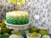 Tarta manzana verde degradado green apple ombre cake