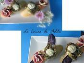 Tapa alcachofas, mayonesa salmorejo, flor jamón, chips patatas violeta