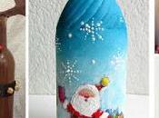 Cómo decorar manera fácil botellas para navidad