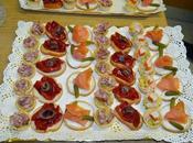 Tartaletas, volovanes canapés varios