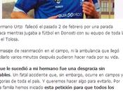 muerte repentina fútbolista vasco Urtzi petición hermano Enetz consiguen desfribiladores Euskadi
