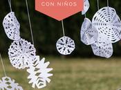 Neulas copos nieve papel, decoración sencilla efectiva