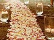 camino pétalos velas para boda