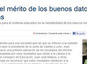 quién felicitar buenos datos Castilla León Informe PISA?