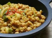 Garbanzos Curry Calamares, Quínoa Leche Coco