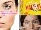 Mascarilla maizena efecto botox receta casera