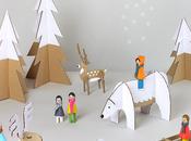 IMPRIMIBLE GRATIS Crea propio pueblito navideño cartón