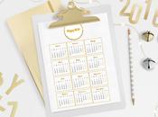 Calendario Organizador Imprimible para Bloggers Emprendedoras Modelo Gold