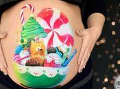 Bellypainting Navidad