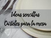 Ideas sencillas carteles para mesa navidad