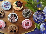 Broches navideños colgante (hechos esmaltes)