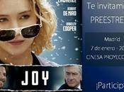 "Participantes Ganador Concurso: ""entradas para preestreno Joy"""