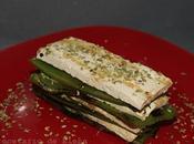 Lasaña tofu pimiento verde