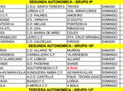 Horarios fútbol ourensano, Enero 2016