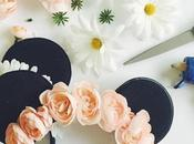 Como hacer vincha orejas Minnie flores