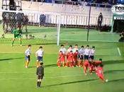 Original saque falta equipo niños japoneses