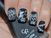 Nail Mickey Minnie Pizarra