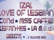 Love Lesbian, Second, Izal, Miss Caffeina, Elefantes M.O.D.A. debut festival Sonoracc