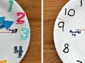 Manualidad: Reloj plato papel