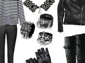Disfraz improvisado motera rockera