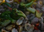 Vegetales vacío plancha.