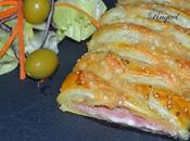 Trenza Hojaldre Rellena Jamón Queso
