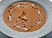 Ideas entrantes primer plato para menú valentín. bisquet marisco almendra crema nata