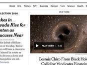 Primicia periodística primera página: ondas gravitacionales predichas Einstein
