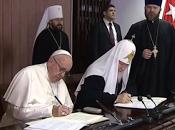 Declaración conjunta histórico encuentro entre Papa Francisco Patriarca Ortodoxo ruso Kirill