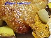 Fácil confit pato verduras salsa frutos bosque