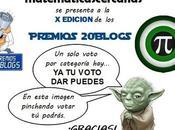 Vota matematicascercanas Edición Premios 20Blogs