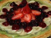 Tarta hojaldre, crema pastelera frutas