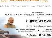 "primer ministro india, narendra modi, visita ""sri sathya sowbhagyam"""